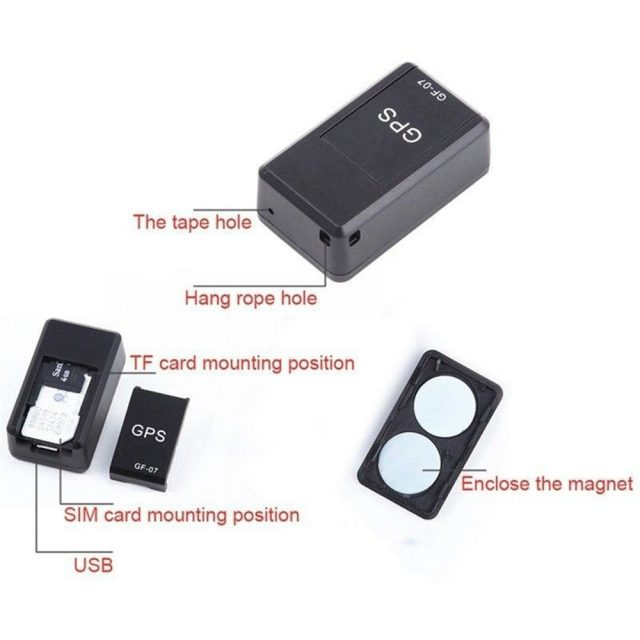 Mini GPS Tracker Car GPS Location Tracker Magnetic SOS Tracking Device For Vehicle Car Child Anti-Lost Recording Tracking Device