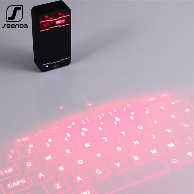 SeenDa Mini Laser keyboard Wireless Bluetooth Virtual Projection keyboard Portable for iPhone Android iPad Tablet PC Notebook