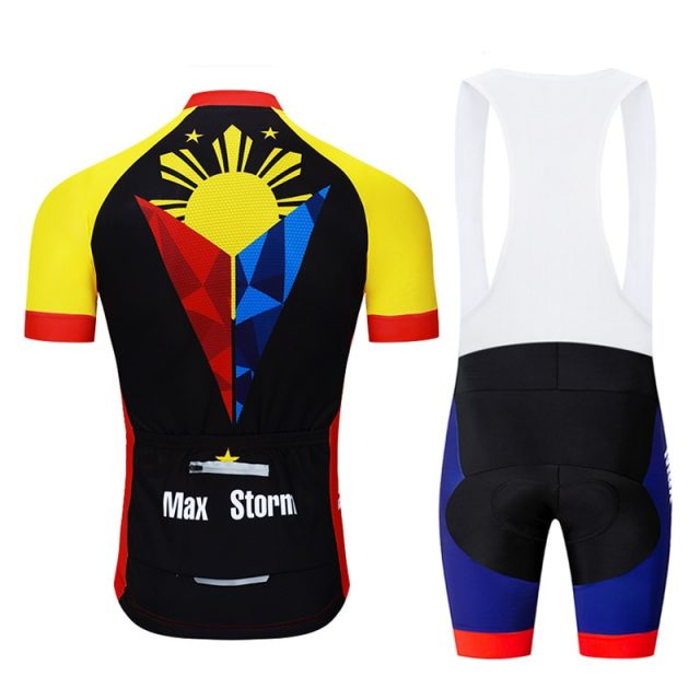 2019 New Team Philippines Cycling Jersey Customized Road Mountain Race Top max storm Reflective zipper 4 pocket