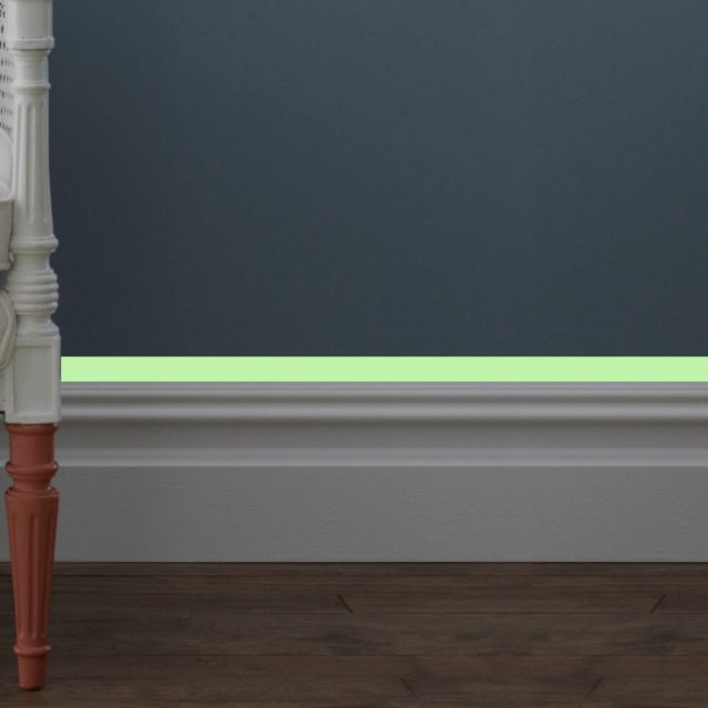Luminous band baseboard Wall Sticker living room bedroom Eco-friendly home decoration decal Glow in the dark DIY Strip Stickers