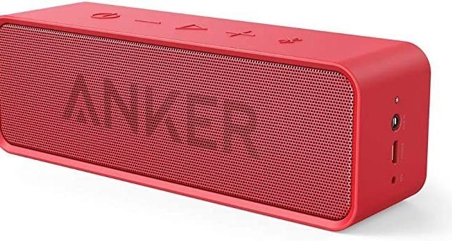Anker Soundcore Portable Wireless Bluetooth Speaker with Loud Stereo Sound, 24-Hour Playtime, 66 feet Bluetooth Range, Built-in Microphone Compatible with iPhone/IOS, Samsung and All Android Devices