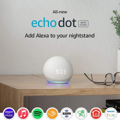 Amazon's All-New Echo Dot (4th Gen)   Portable Smart speaker with clock and Alexa
