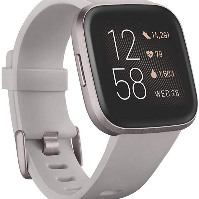 Fitbit Versa 2 Health and Fitness Smartwatch with Heart Rate, Music, Alexa Built-In, Sleep and Swim Tracking, One Size (S and L Bands Included)