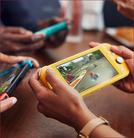 Nintendo Switch Lite Hand-Held Gaming Console All Colors Available Turquoise, Gray, Yellow and Coral