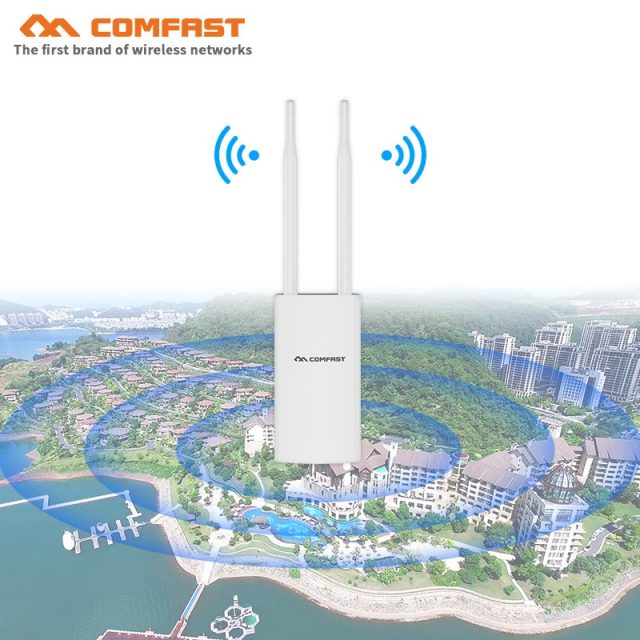 High Power  Wireless wi fi Router 500mW 300M~1200Mbps Outdoor AP Wide-Area Wi-Fi Amplifier With 360-Degree Omnidirection Antenna