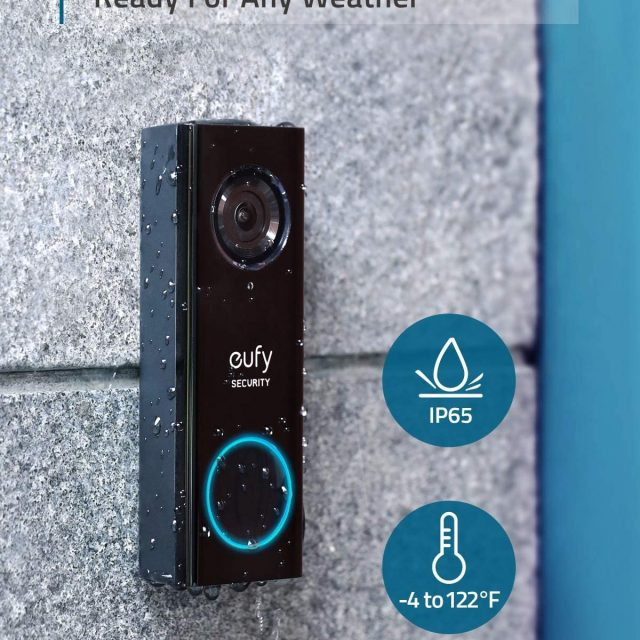eufy Security and Safety, Wi-Fi Video Doorbell, HD 1080p-Grade, No Monthly Fees, Secure Local Storage, Human Detection, Free Chime, Requires Existing Wiring