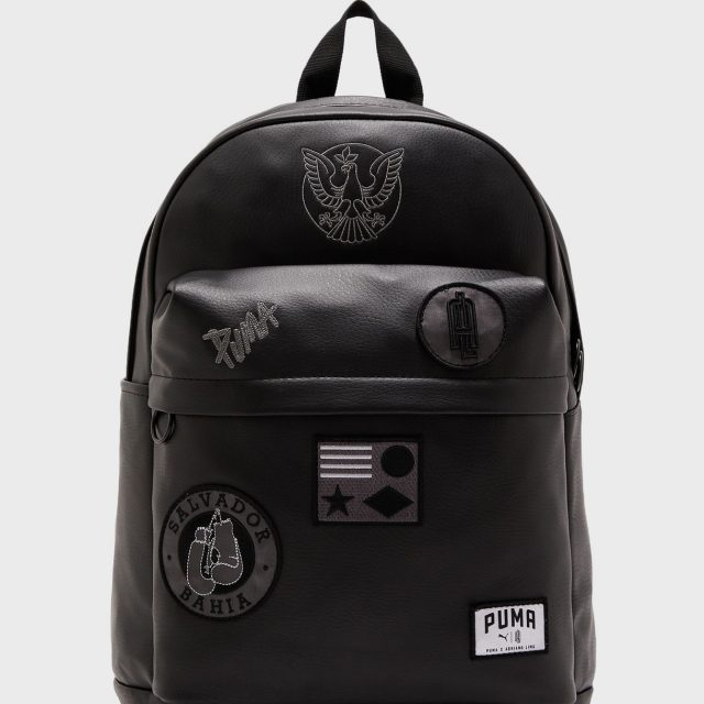 Puma x Adriana Lima Backpack Black Leather for Everyday Use at Work, Gym or School