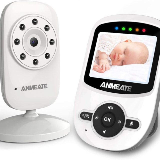ANMEATE Video Baby Monitor with Digital Camera 2.4Ghz Wireless Video Monitor with Temperature Monitor, 960 feet Transmission Range, 2-Way Talk, Night Vision, High Capacity Battery